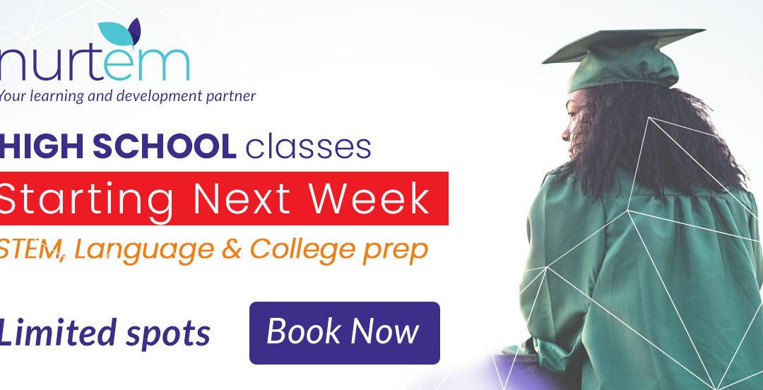Nurtem's high school classes start this week