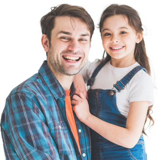 girl with dad